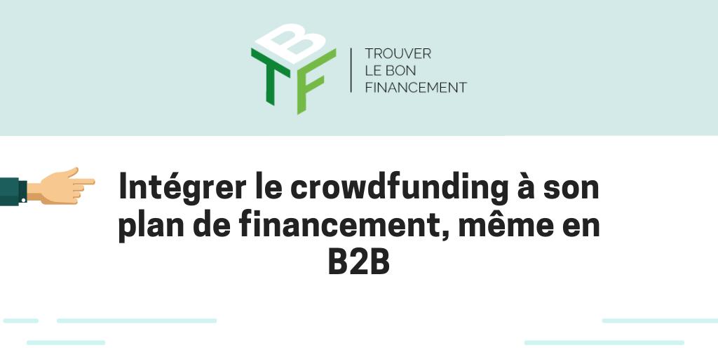 Formation crowdfunding B2B